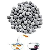 Bolas minerales de 200 unids, bolas de turmalina para bolas de tanque de acuario de agua dulce, bolas de caracol y cangrejo de cangrejos, biológicos de bola acuario ...