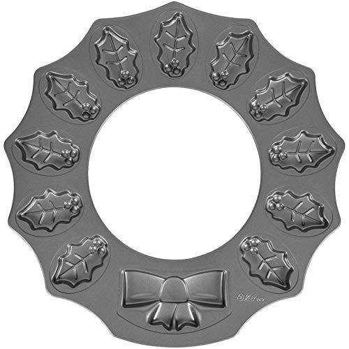 Wilton Stechpalmenkranz-Form, antihaftbeschichtet, 12 Mulden