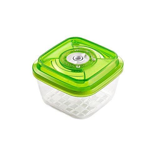 VacSy FoodSaver Vakuum Glasbehälter zum Frischhalten von Lebensmitteln - Frischhalte-Box mit 1,1 Liter