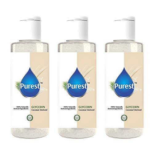 Purest Unscented Glycerin Natural Coconut Pharmaceutical Grade, Vegan, Paraben Free, Beauty & Skin Care 120Ml ( Pack Of 3)