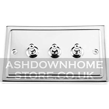 G/&H TC285 Trimline Plate Polished Chrome 1 Gang Intermediate Toggle Light Switch