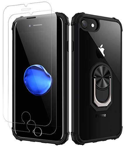 Amuoc Compatible with iPhone 7| Compatible with iPhone 8 Case, [ Military Grade ] with [ Glass Screen Protector] 15ft. Drop Tested Protective