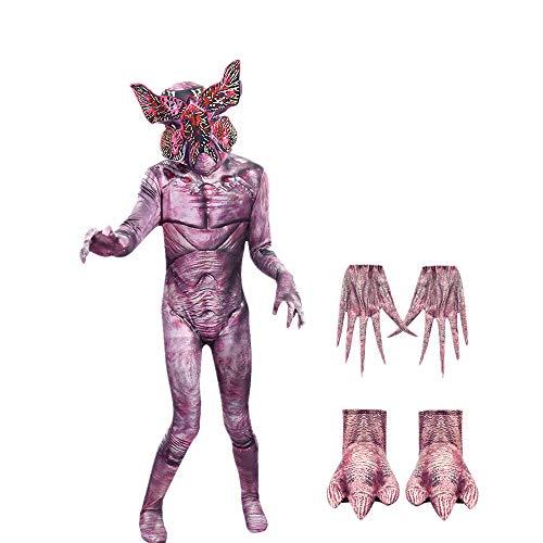 Alisoya Disfraz de Halloween para Niños Adultos Stranger Things Man-Eater Flower Demogorgon Scary Fortress Cosplay Disfraz con Máscara para Halloween Fiesta de Navidad