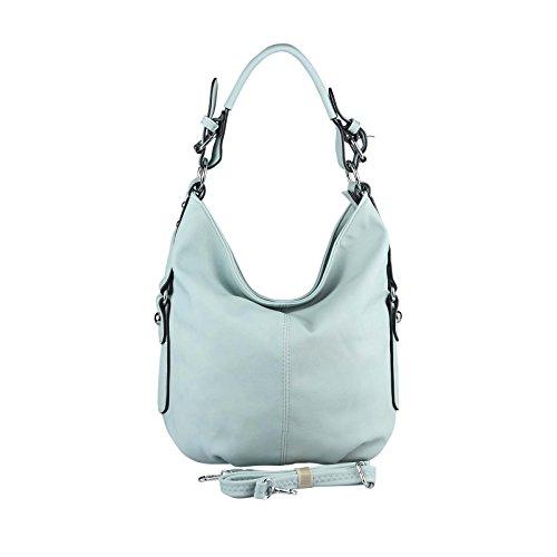 OBC Damen Tasche Shopper Hobo-Bag Henkeltasche Schultertasche Umhängetasche Handtasche Crossover CrossBag Damentasche Reisetasche Beuteltasche (Hellblau)