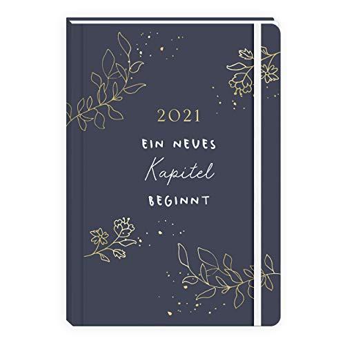 Kleiner Kalender 12x18 cm 2021 I Organizer I Wochenplaner 2 Seiten pro Woche   klein handlich Hardcover  Terminkalender