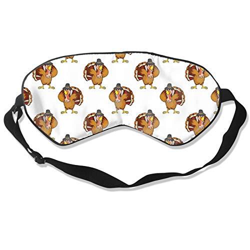 Dabbing Turkey Dab Dance White (3) Eye Mask Adjustable Strap Comfortable & Super Soft Blindfold Eyeshade for Men & Women for A Full Night's Sleep