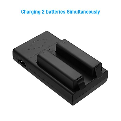 Powerextra Dual Battery Charger for for DJI Osmo, Osmo +, Osmo Pro/RAW, Osmo Mobile