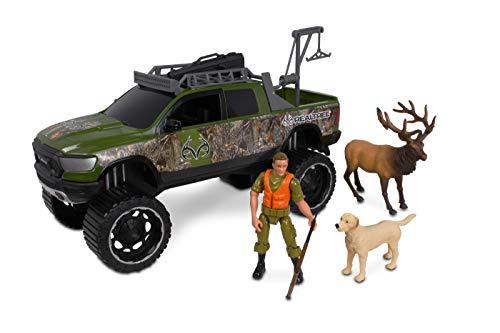 NKOK 1: 18 Realtree 8Piece Ram 1500 Rebel Elk Hunting Playset (Colors May Vary)