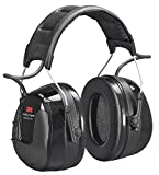 3M HRXS220A Protectores Auditivos con Radio FM, 32 dB, Negro