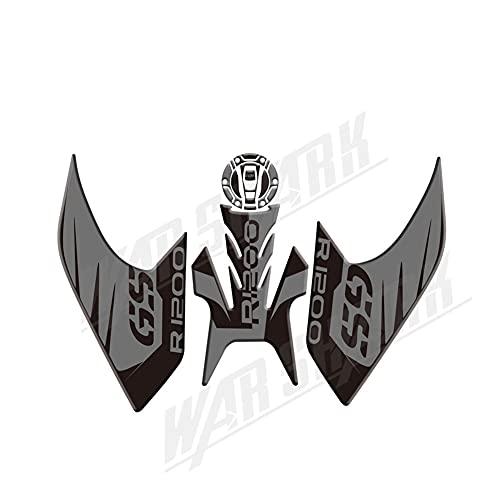Protector DE Tanque Moto para B-M-W R1200GS LC R1200-LC 2013~2016 Reflectante Motocicleta Antideslizante Almohadilla De Tanque Pegatina Decorativa R1200GS Pegatinas Protectoras (Color : 3)