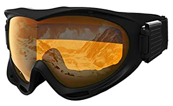 Ski & Snowboard Goggles - Snow Glasses for Skiing Snowboarding Motorcycling & Outdoor Winter Sports - Anti Fog & Helmet Compatible Snowmobile Gear with UV400 Protection - Fits Men Women & Youth