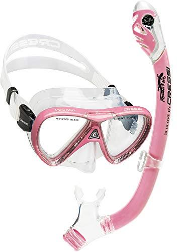 Cressi Pegaso & Iguana Dry, Clear/Pink