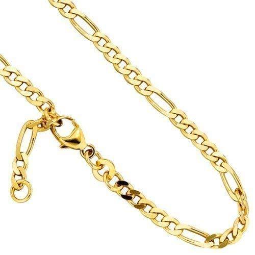 Goldenes Fußkettchen Länge ca. 25 cm 333/- Gelbgold Karabinerverschluss (ca. 3,5 g) Fußkette