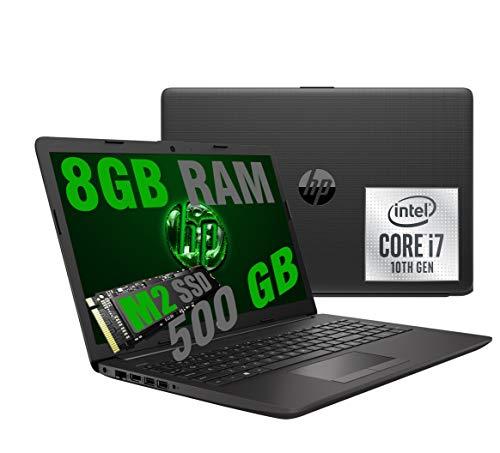 Notebook HP i7 250 G7 Portatile Led FHD 15.6  Cpu Intel Quad core i7-1065G7 10Th Gen 3,9Ghz  Ram 8Gb DDR4  SSD M2 500GB  graphic Intel Iris Plus  Hdmi Dvd RJ-45 Wifi Bluetooth  Windows 10 Pro 64Bit