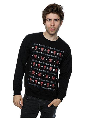 Marvel Herren Deadpool Christmas Sweatshirt Large Schwarz