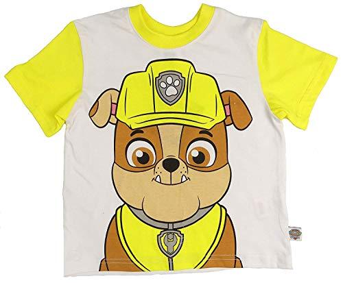 Paw Patrol T-Shirts Marshall Chase Zuma oder Rocky Vier zur Auswahl 2-3 to 6 - Gelb Schutt, 104-110