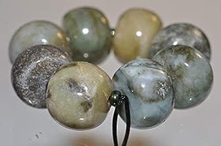 ✦ Bella-gems ✦8 Pieces 12x8~10mm Genuine Un-Treated Burmese Multi-Hue Jade Jadeite Type A Wheel Drum Rondelle Beads - K1185