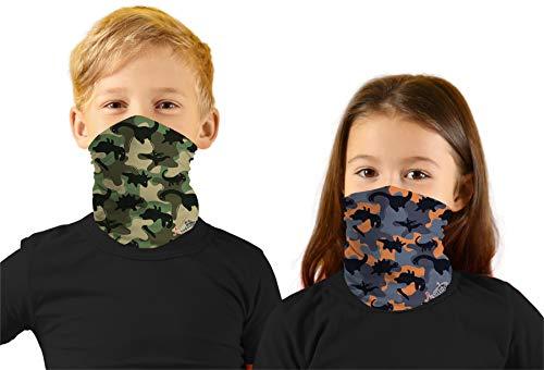 Toddler Boys Face Ski Mask Hiking Bandanas Sport Neck Gaiter UPF 50+ Sun Mask Scarf for Litte Girl