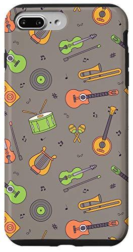 iPhone 7 Plus/8 Plus Vintage Music Instruments Guitar Lyre Viola Mandolin Pattern Case
