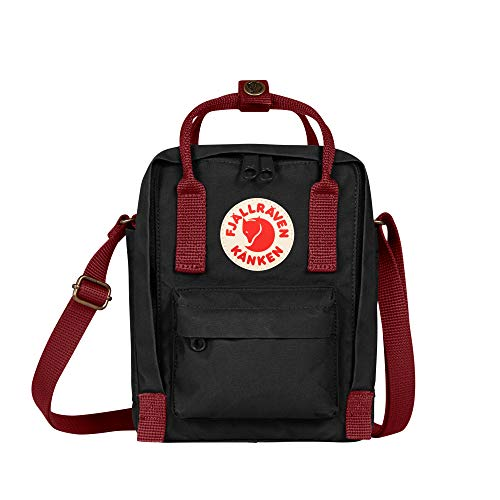 FJALLRAVEN Bolsa y Mochila, Kånken Sling F23797, Color Negro (Black-Ox Red)