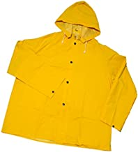 West Chester 4036/XL Rainwear 35 mil PVC Over Polyester Jacket, XL, Yellow (1 Suit)