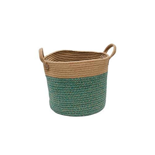 Decoración del hogar- Inicio Cesta de almacenamiento natural de algodón y lino cesta de lavadero juguete Toalla Manta Cesto de la decoración del hogar regalo Cesta de almacenamiento Decoración de pare