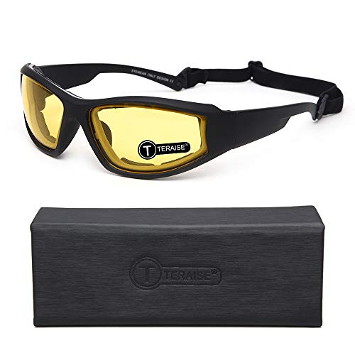 TERAISE Motorcycle Night vision Riding Glasses Safety Ski Goggles Sunglasses