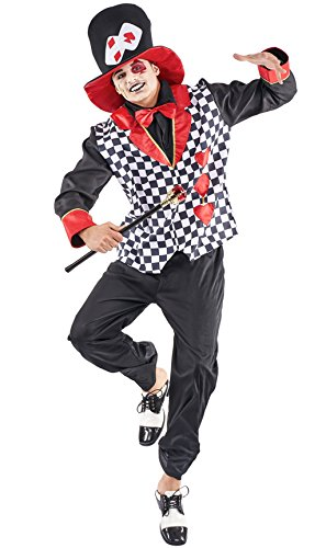 Disfraz de Sombrerero Corazones para hombre
