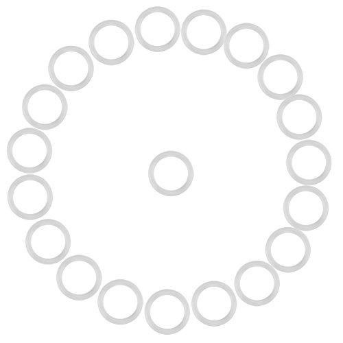 20Pcs Sicher Silikonring für Schnuller Schnullerketten Clips Adapter Halter Weiche Baby Beißring Halter Ringe Geburtstag Baby Shower Geschenk(Klar)