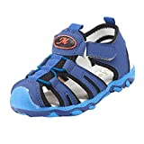WUAI Kids Shoes,Baby Boys Girls Anti-Slip Soft Sole Sport Summer Sandals Casual Flats Shoes Sneakers 1-6 Years Old(Dark Blue,2.5-3Years)