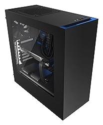 NZXT CA-S340MB-GB Mid Tower Chassis PC-Gehäuse schwarz/blau