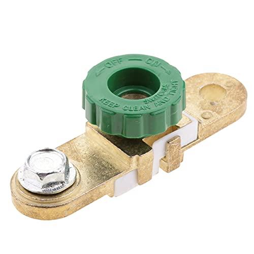 Yuquanxin Batería De Desconexión De La Batería Corte De Aislamiento Interruptor Green Rueda Coches Clásicos Parte Durable (Color : Brass)