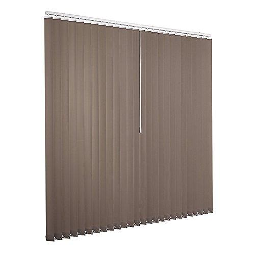 Ventanara Lamellenvorhang grau Vertikaljalousie 89mm inklusive Montagematerial 250 x 250 cm