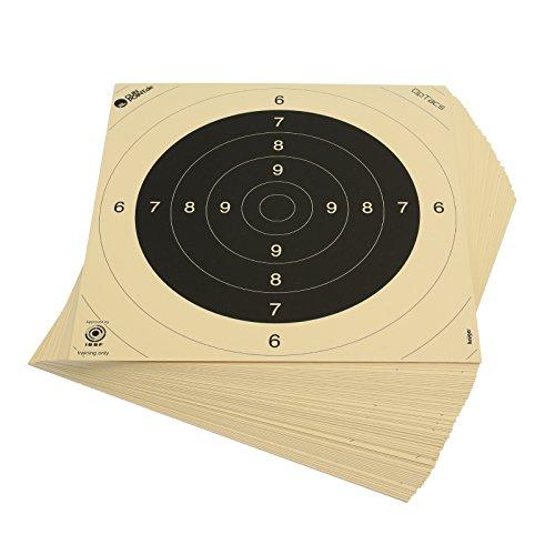 OpTacs 500 Stück - Pistolen-/ Kleinkaliberscheibe 26 x 26 cm - / Zielscheibe Pistole