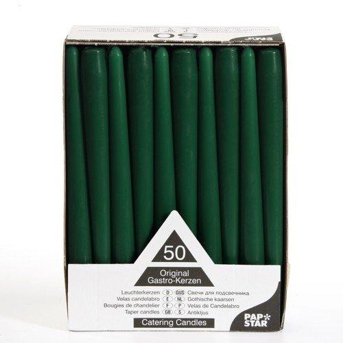 50 Leuchterkerzen Ø 2,2 cm 25 cm dunkelgrün Spitzkerzen