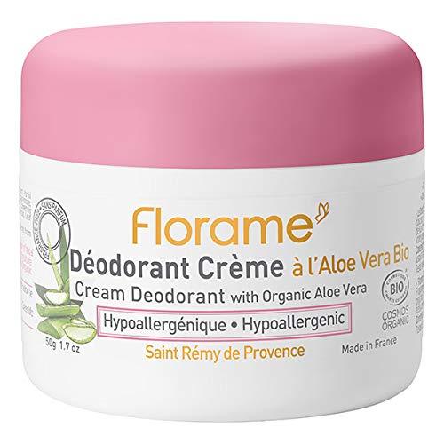 Florame Déodorant Crème à l'Aloe Vera 50g Bio