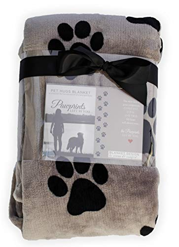 Pawprints Left by You Pet Memorial Blanket