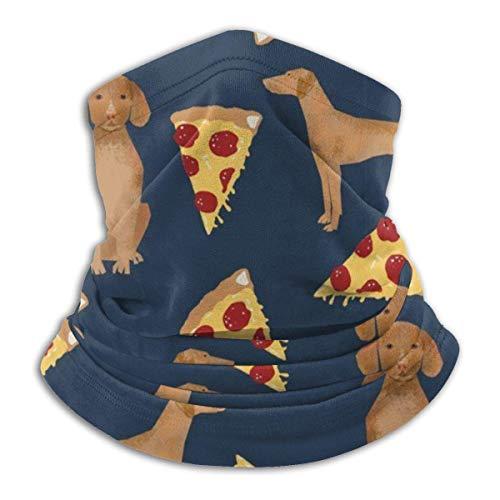 Miedhki Vizsla Pizza Hals Gamasche Kopfbedeckung Stirnband magische Schal nahtlose Bandanas Rennen, Angeln, Wandern, Motorrad