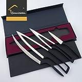 5cr17mov Deglonミーティングナイフ4pcセット–プレミアムステンレススチールシェフナイフset- Best正確なスライス、Carving、切断の鮮明Multipurpose & Chopping料理ナイフセット