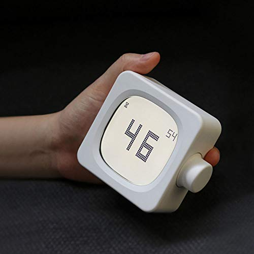PLEASUR Budzik podróżny, kreatywny elektroniczny LED, cyfrowy budzik LED, funkcja drzemki, nagrywanie głosu, dla dzieci, studentów, młodzieży, na biurko, do sypialni, jako dekoracja, zegar regałowy, biały