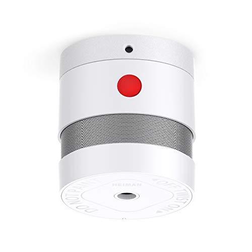 HEIMAN Mini Rauchmelder Feuermelder mit 10 Jahren Batterielaufzeit EN14604 Zertifizierter Rauchwarnmelder mit Feueralarm und Fotoelektrischem Sensor (1er Set)