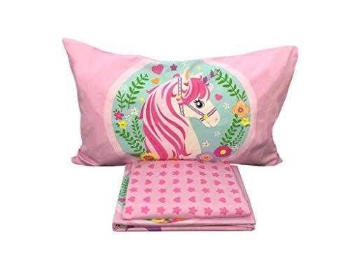 Unicorno Completo Letto, Rosa, 150 x 290