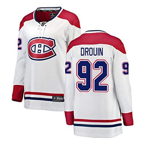 KKCD Max Domi Montreal Canadiens Eishockey Trikots NHL Männer Spiel Team Trocknen Schnell Breathable Jerseys Stickerei Langarm,White 92,XXL