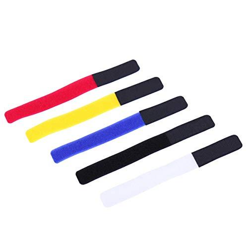 Zeagro Bridas para cables con gancho y bucle, correas de sujeción para bicicleta, 5 unidades, 18 cm