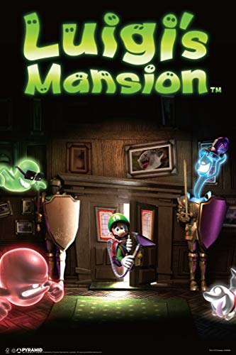Pyramid America Luigis Mansion Video Game Cool Wall Decor Art Print Poster 12x18
