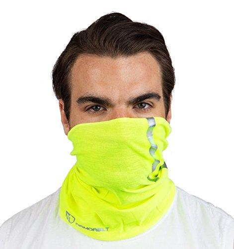 High Visibility Reflective Safety Face Clothing - Neck Gaiter, Bandana Dust Mask, Sun Shade Shield, Multifunctional Headwear (YELLOW) (1)