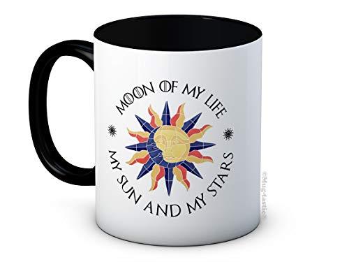 Moon of My Life My Sun and My Stars - Taza de café de cerámica, diseño de luna de mi vida, día de San Valentín