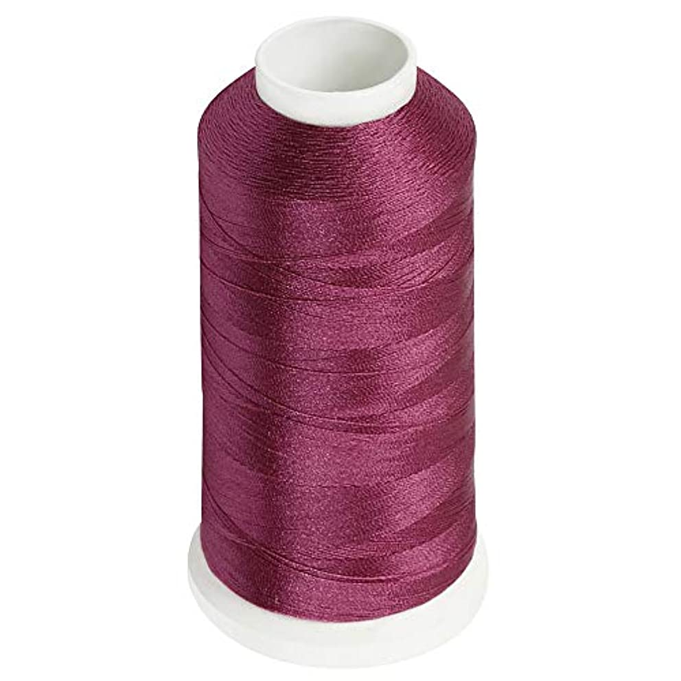 Desirable Life Bonded Nylon N66 Sewing Thread 1500 Yards Size #69 T70 210D/3 for Leather Denim Hand Machine Craft Shoe Bag Repairing Extra Strong Heavy Duty UV Rays Resistant Waterproof (Wine Red)
