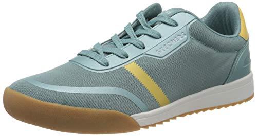 Skechers Zinger 2.0, Zapatillas Mujer, Azul Malla Amarillo Duraleather Trim BLYL, 39 EU