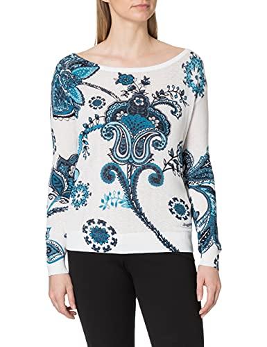Desigual Womens JERS_Nelson Sweater, White, XL